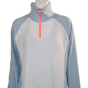 Columbia Pullover - XL - White/Baby Blue